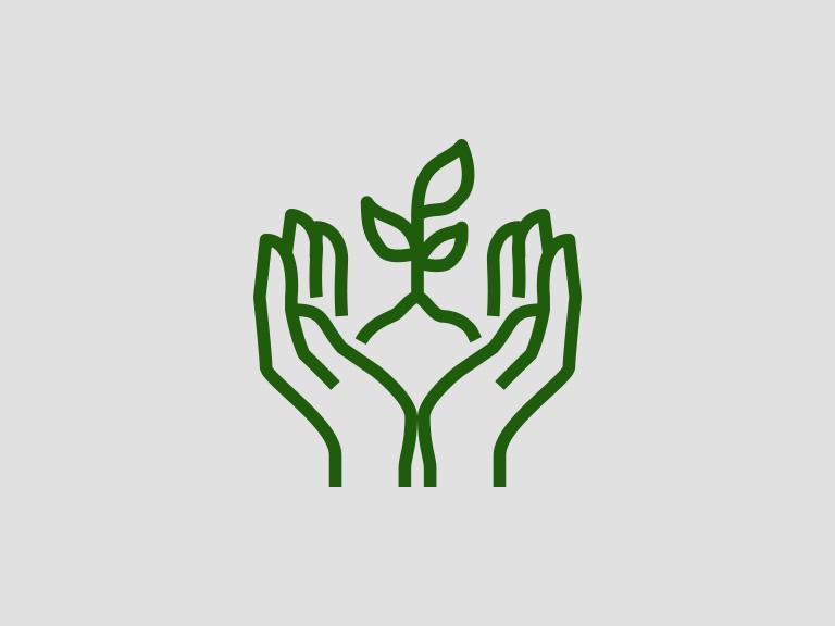 Ikona rośliny wdłoniach